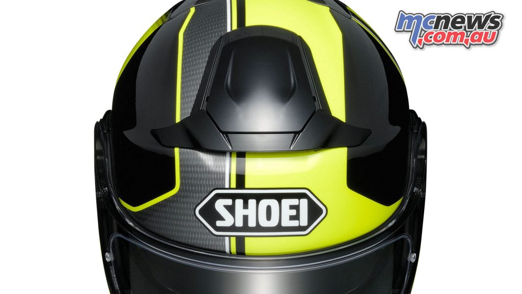 A new ventilation system is featured on the Shoei Neotec II