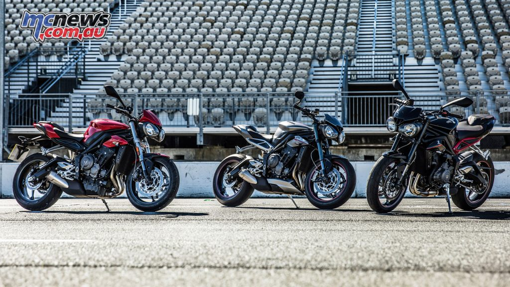 Each of the Street Triple 765 options features a distinct loadout and features, covering a wide range of rider needs