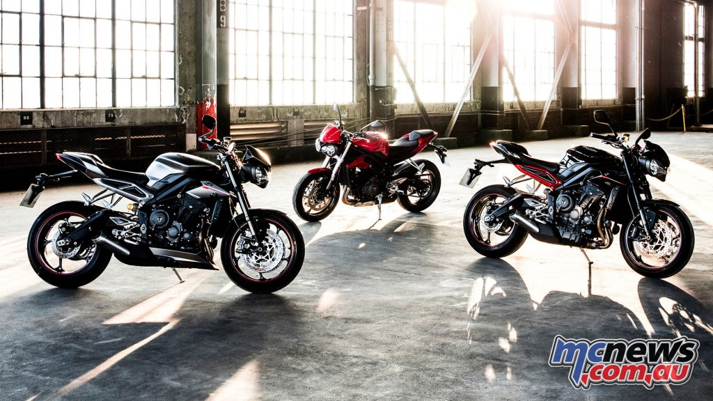 The Street Triple 765 models - RS, S and R