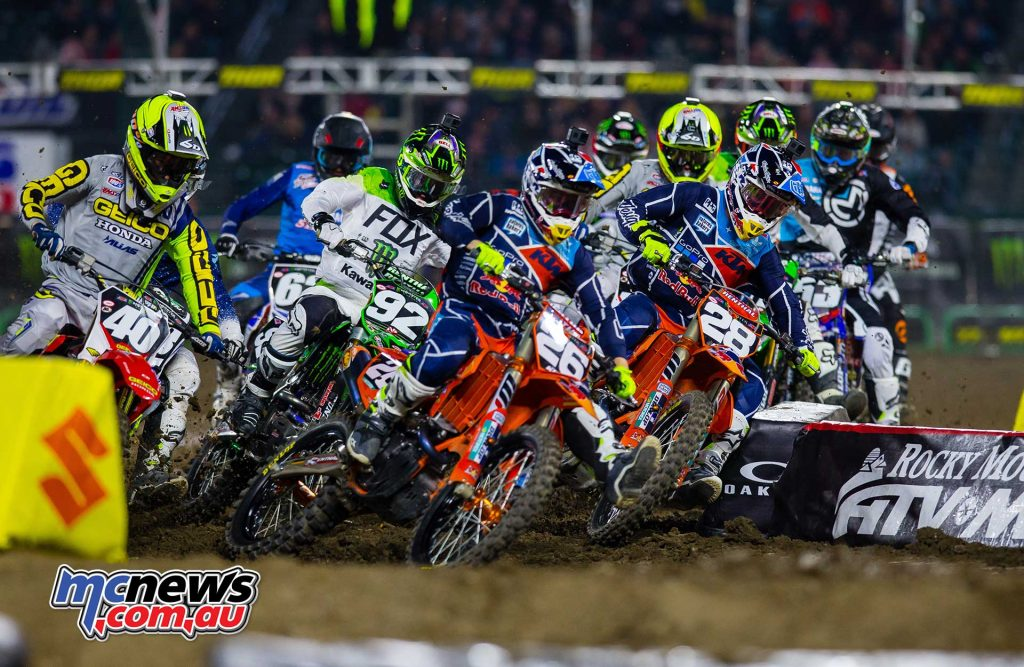 McElrath took an early and dominant lead in the 250SX