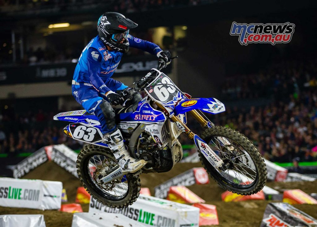 Hayden Mellross finished 13th in the 250SX at Anaheim