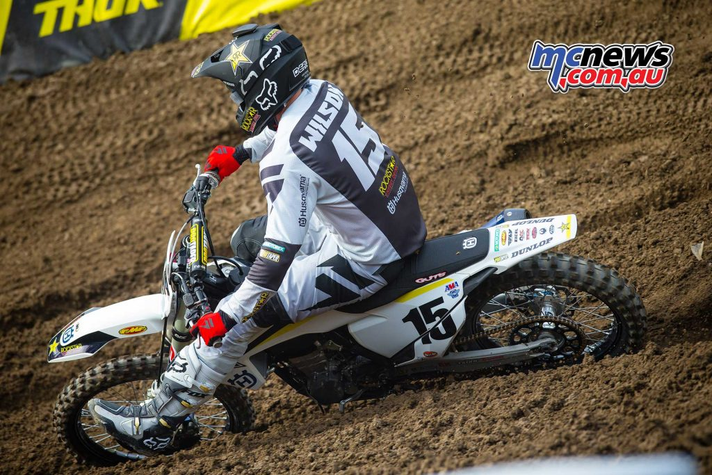 Dean Wilson was another injured rider at Anaheim