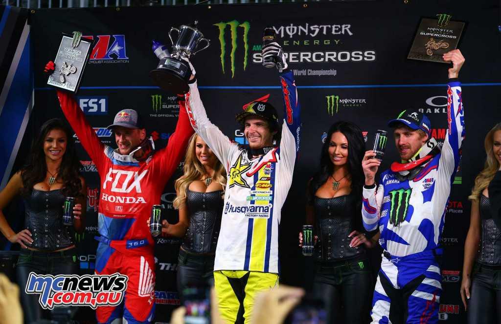 450SX Results Jason Anderson, Husqvarna Ken Roczen, Honda Justin Barcia, Yamaha
