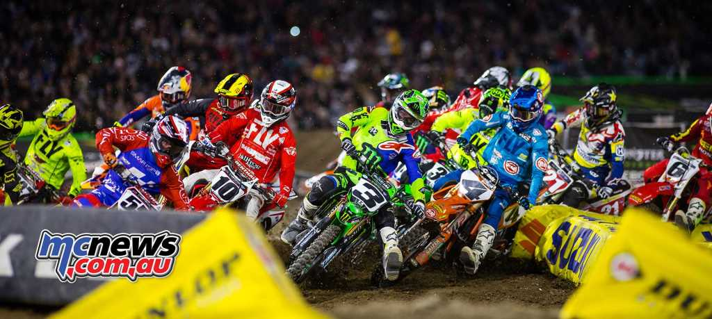Tomac leads the 450SX