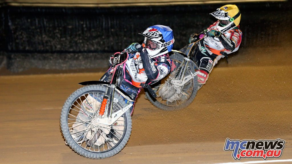Rohan Tungate took the Australian Senior Solo Speedway Round 1 win