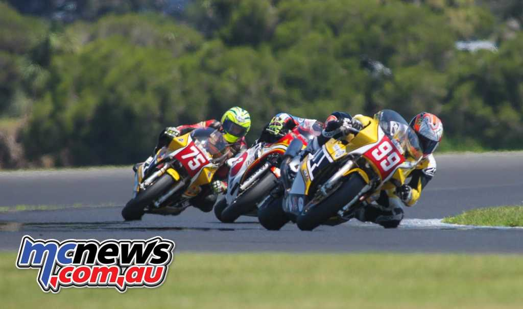 Jeremy McWilliams - David Johnson - Glen Richards - Race Two - Image by Cam White