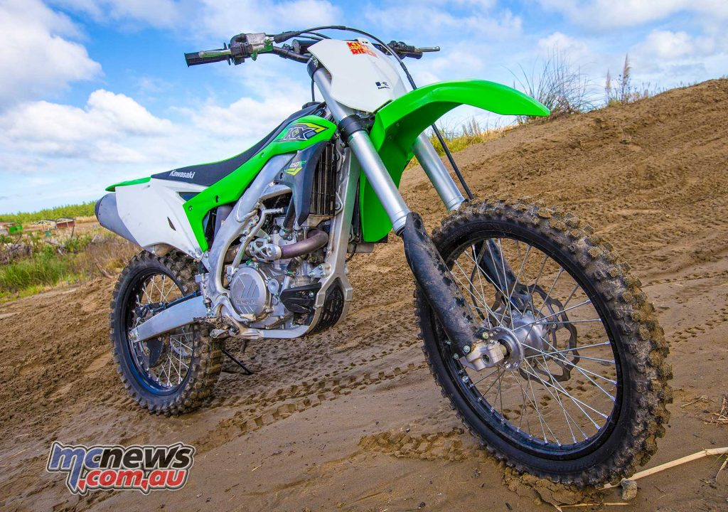 The 2018 KX450F was tested at the Tarawera T100, a 100 mile trail event.