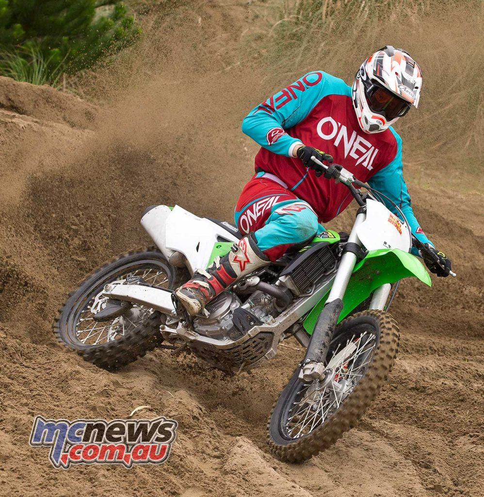 The KX450F may not be oustanding in any particular area, but makes for an excellent machine in general.