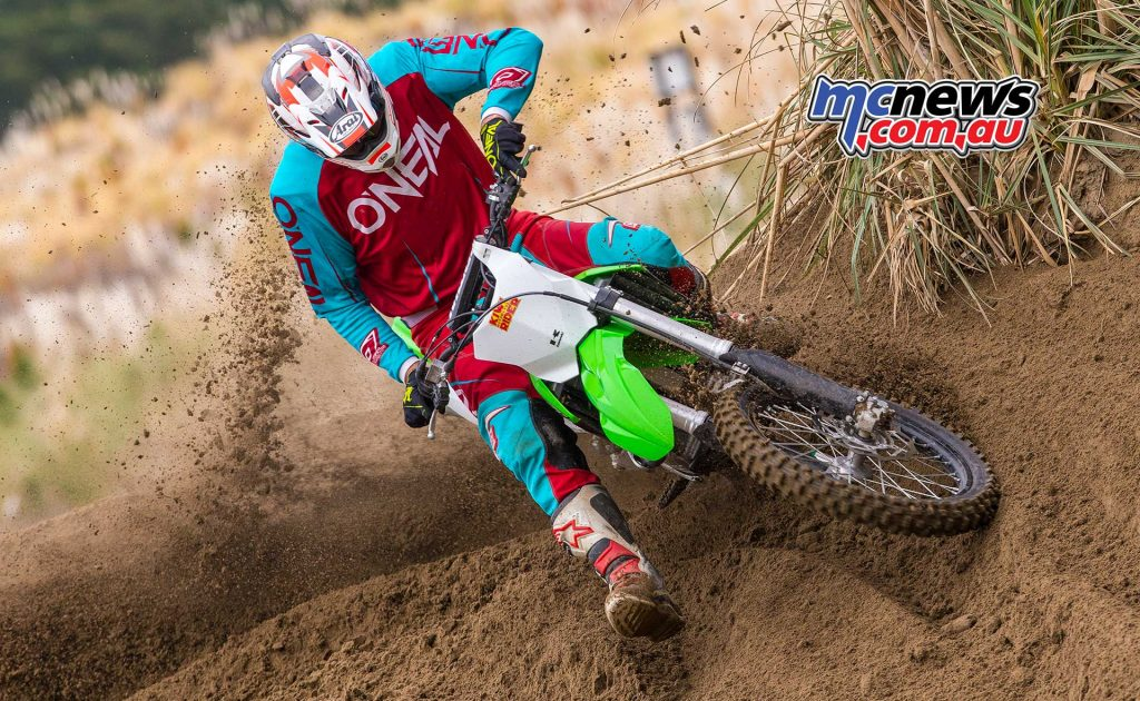 Kawasaki offer a number of subtle updates on their 2018 model KX450F