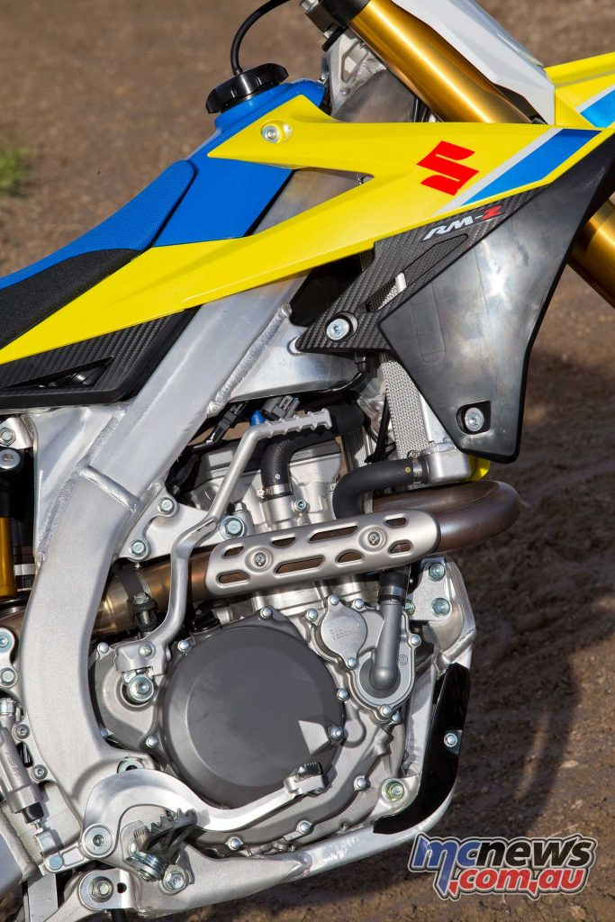 Smooth and easy to ride fast are the Suzuki trademarks for the RM-Z