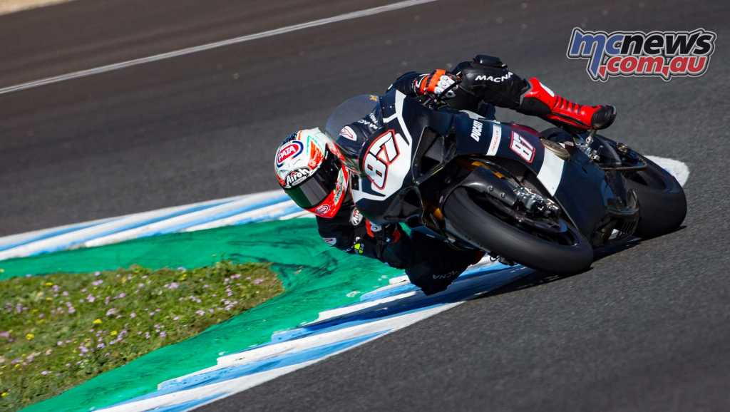 Ducati V4 laps Jerez for race development - Image GeeBee
