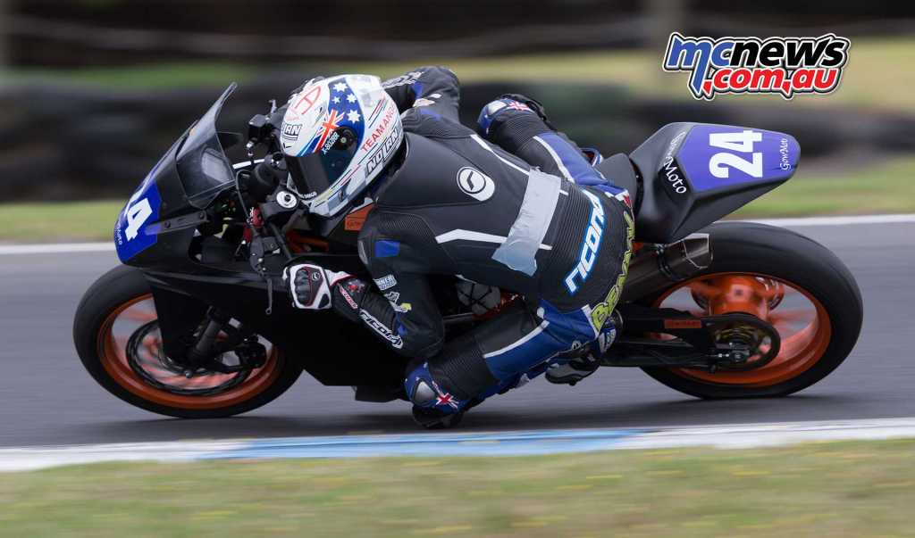 Ben Bramich is racing on a KTM 390 - Image by TBG