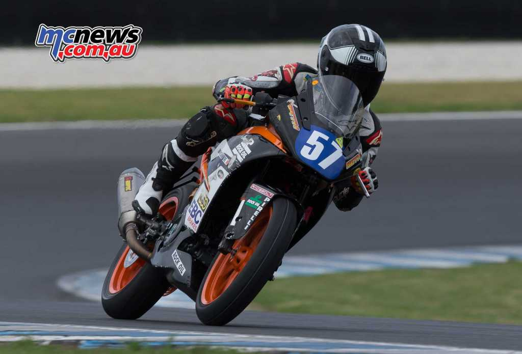 Seth Crump proved himself at the GP Supports and will be a rider to contend with in 2018 - Image by TBG