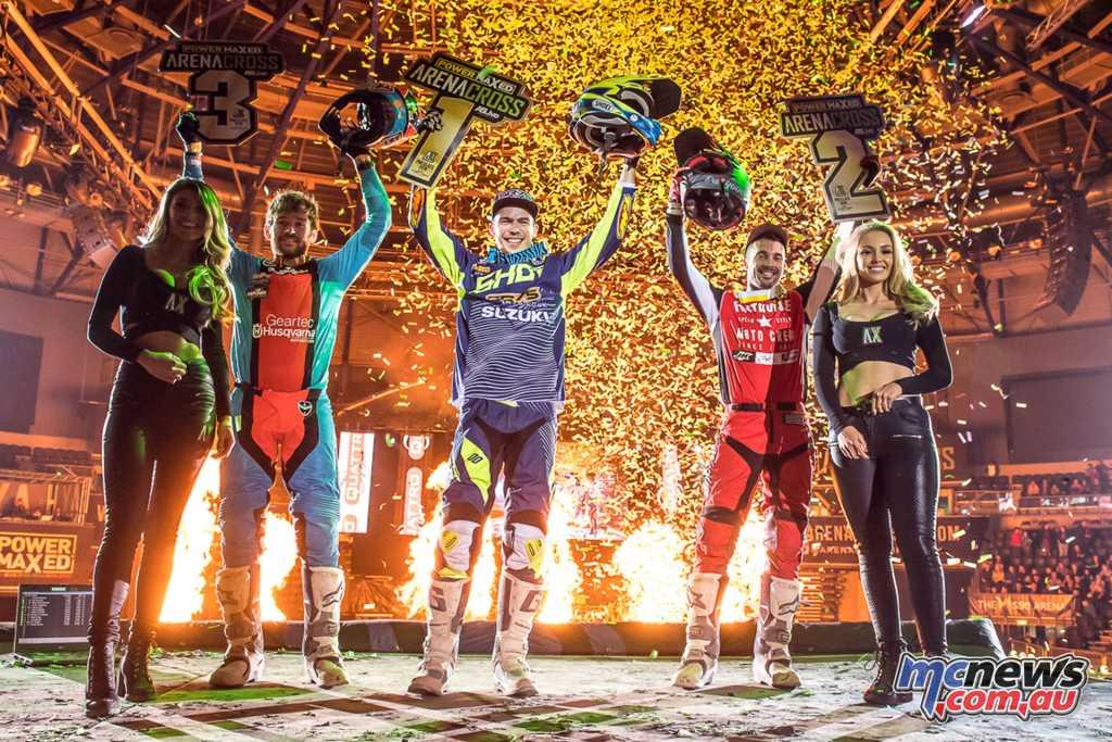 UK Arenacross - Round 5 Podium -