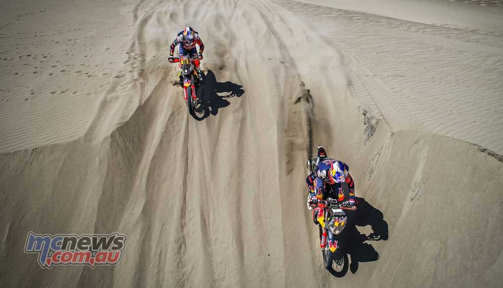 Antoine Meo and Toby price in the dunes
