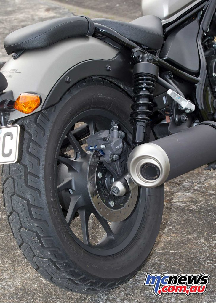 Honda CMX500 rear brake and exhaust
