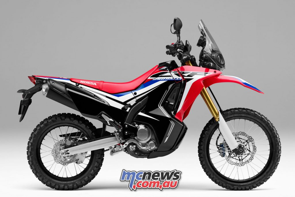 The CRF250 Rally is available for $6,999 Ride Away