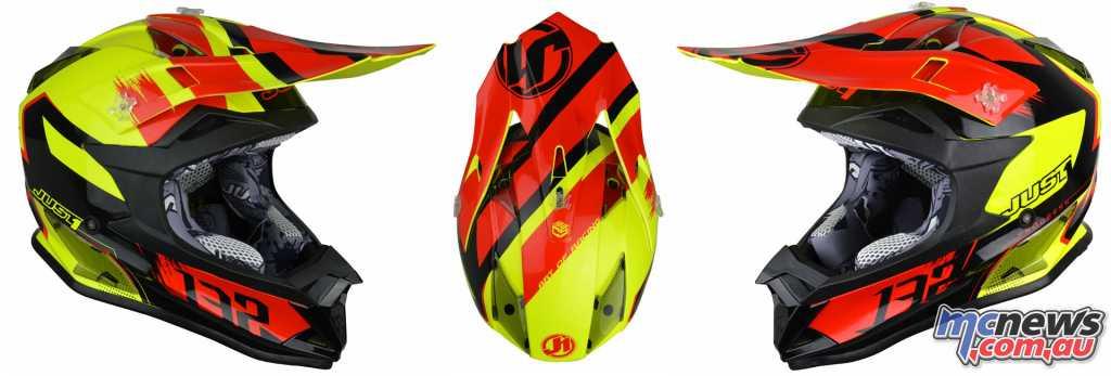 Just1 J32 Pro Kick Helmet in Black/Red/Yellow