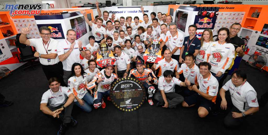 Puig joins the highly successful championship winning MotoGP team - 2017 team pictured