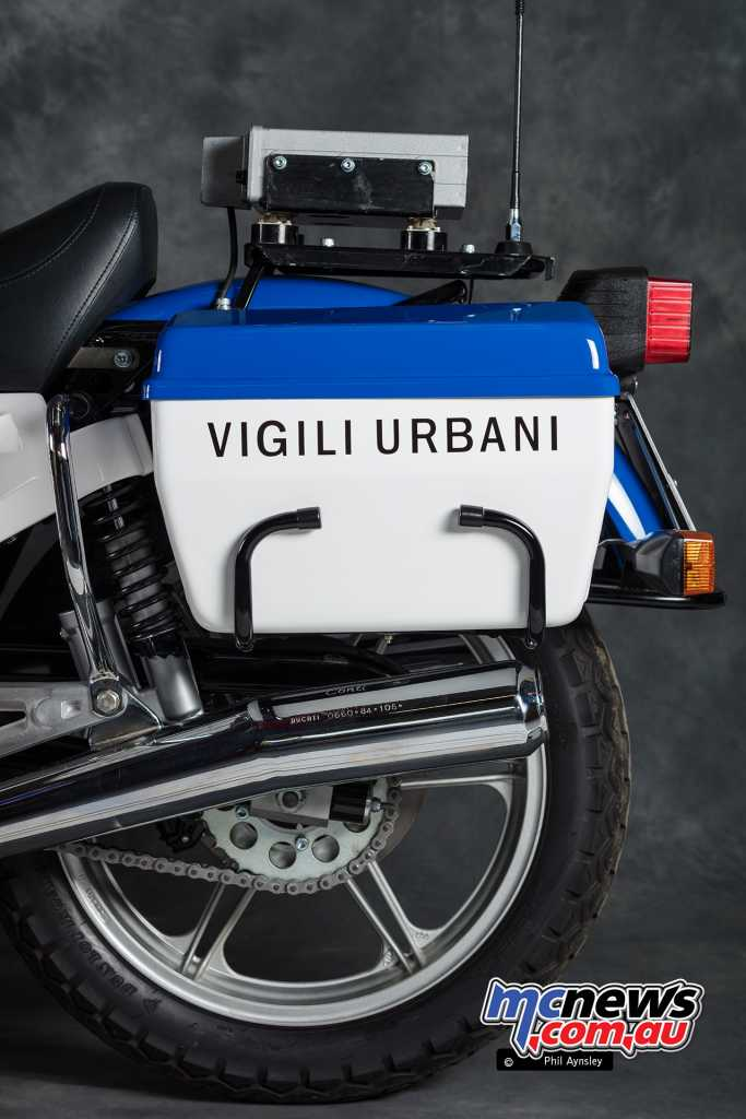 Police panniers fitted
