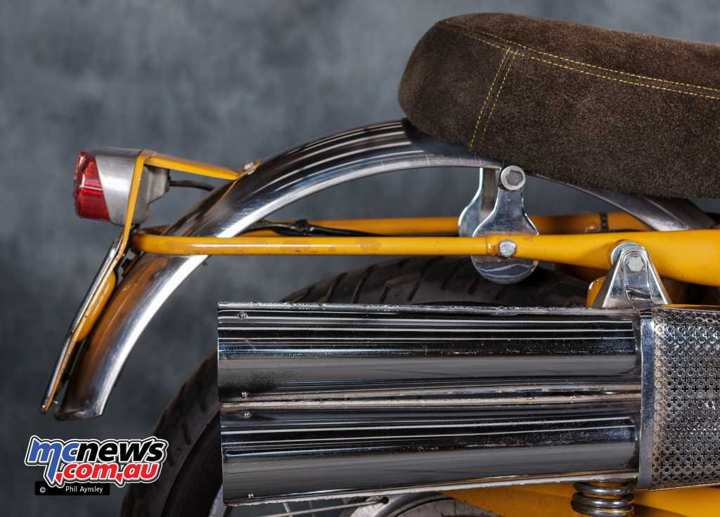 The iconic tall Scrambler style exhausts