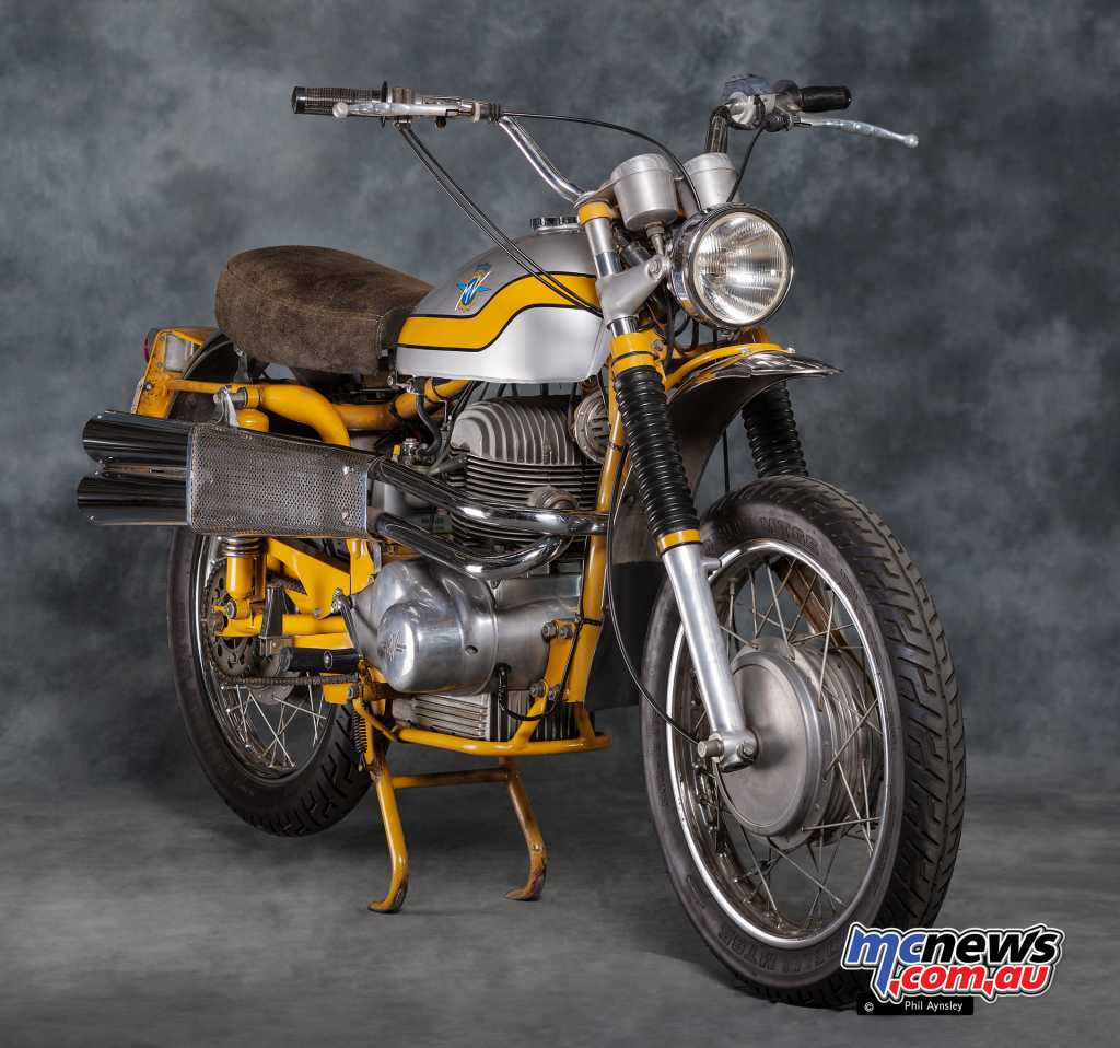 Dry weight of the 350 Scrambler was 138kg