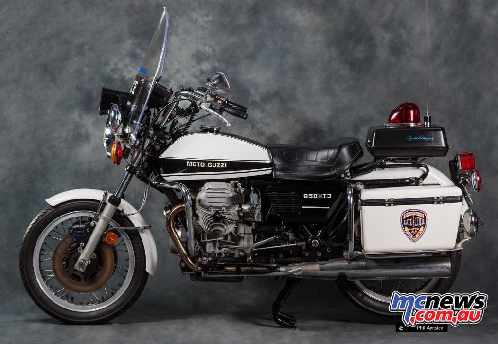 Originally the Moto Guzzi V7s were a popular choice in America for the police forces