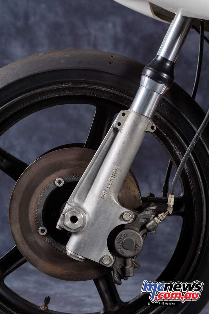 The Norton Challenge front forks and brakes