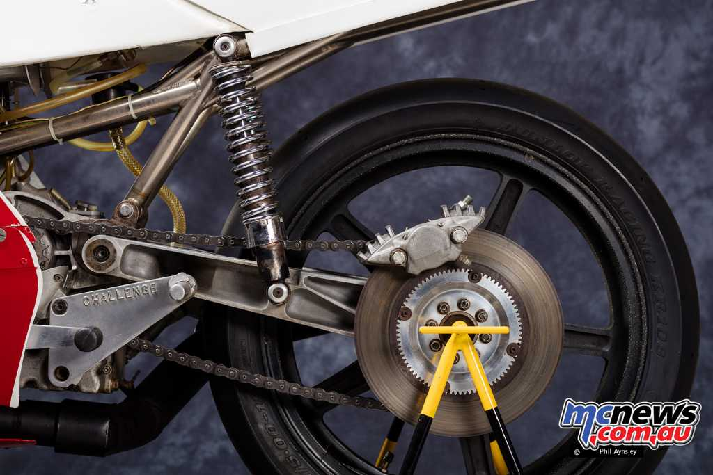 The Norton Challenge rear brake and wheel