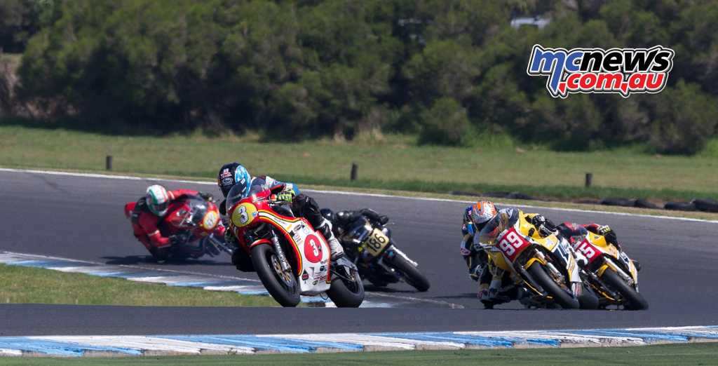 David Johnson leads Jeremy McWilliams in Race Two - Image by TBG