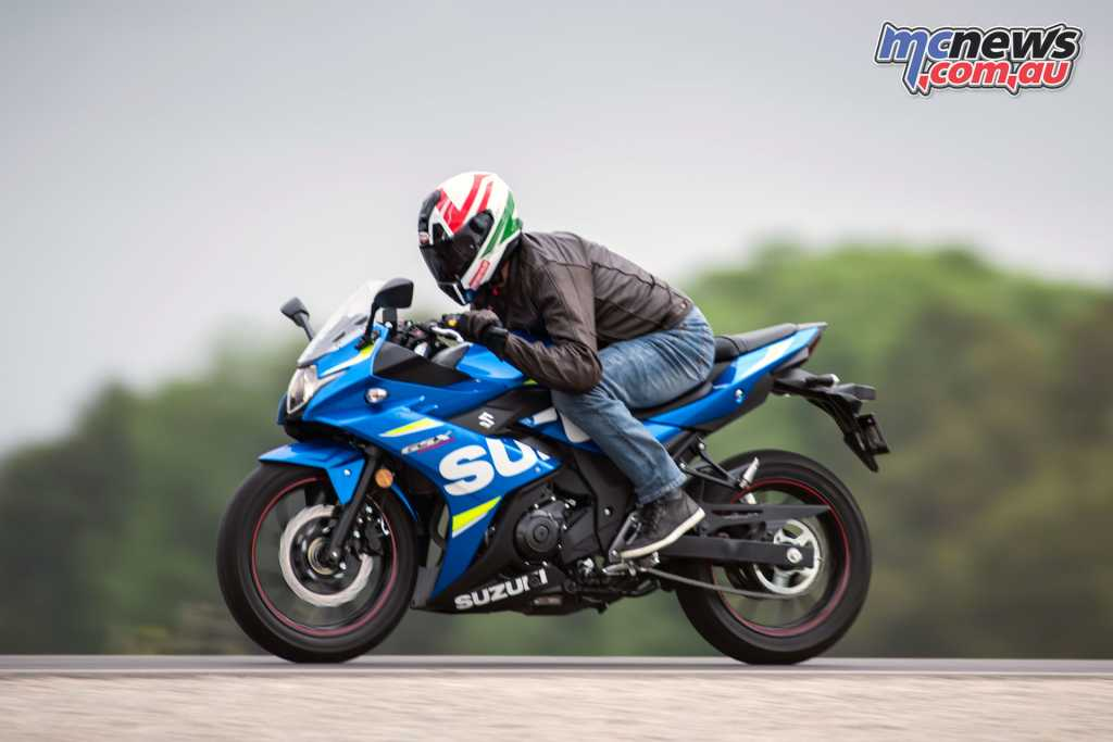 The GSX250R also features neutral handling ideal for a new rider