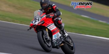 Troy Bayliss at Phillip Island today