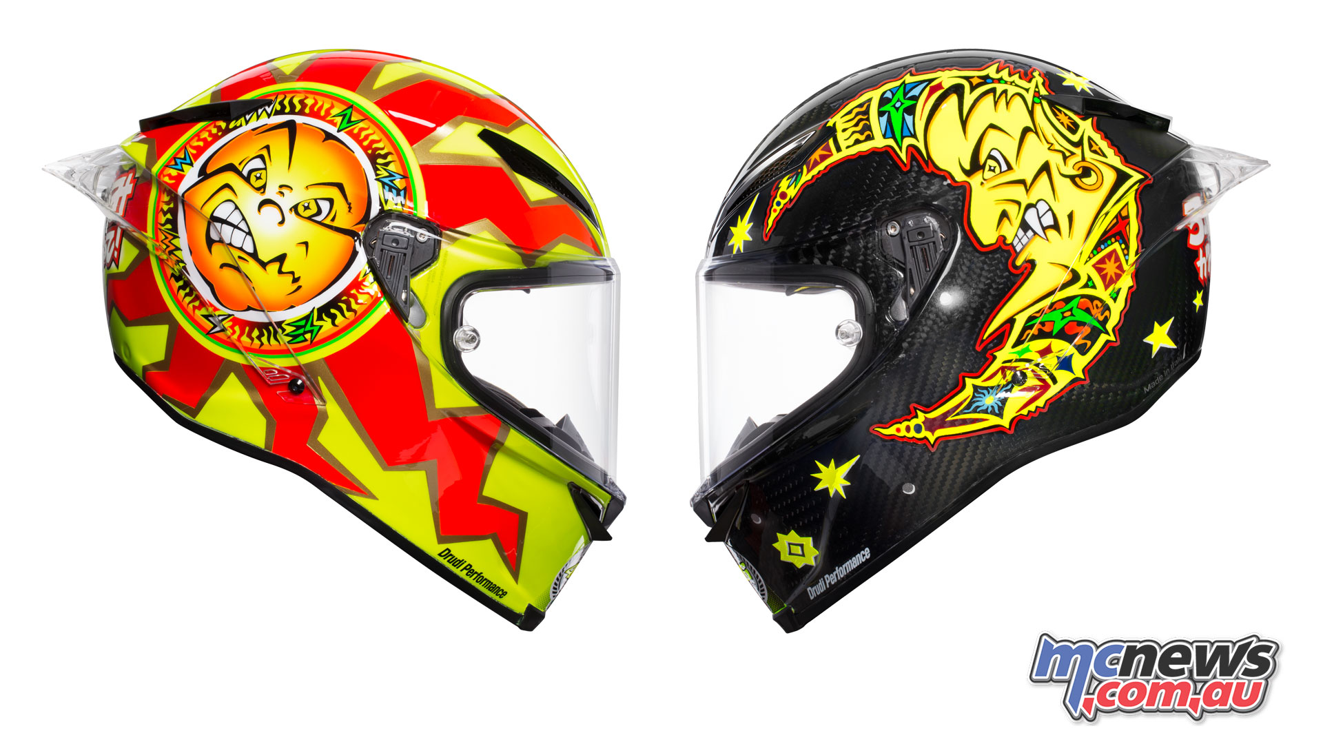 Valentino Rossi helmet goes back to the future | MCNews.com.au
