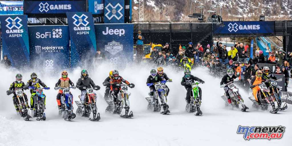 The X-Games Snow Bike Cross at Aspen