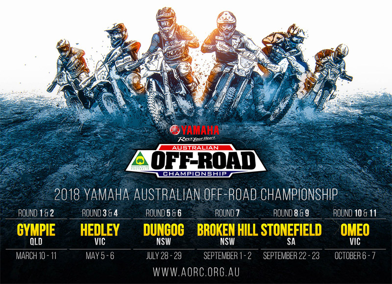 Yamaha continues its support of the AORC in 2018