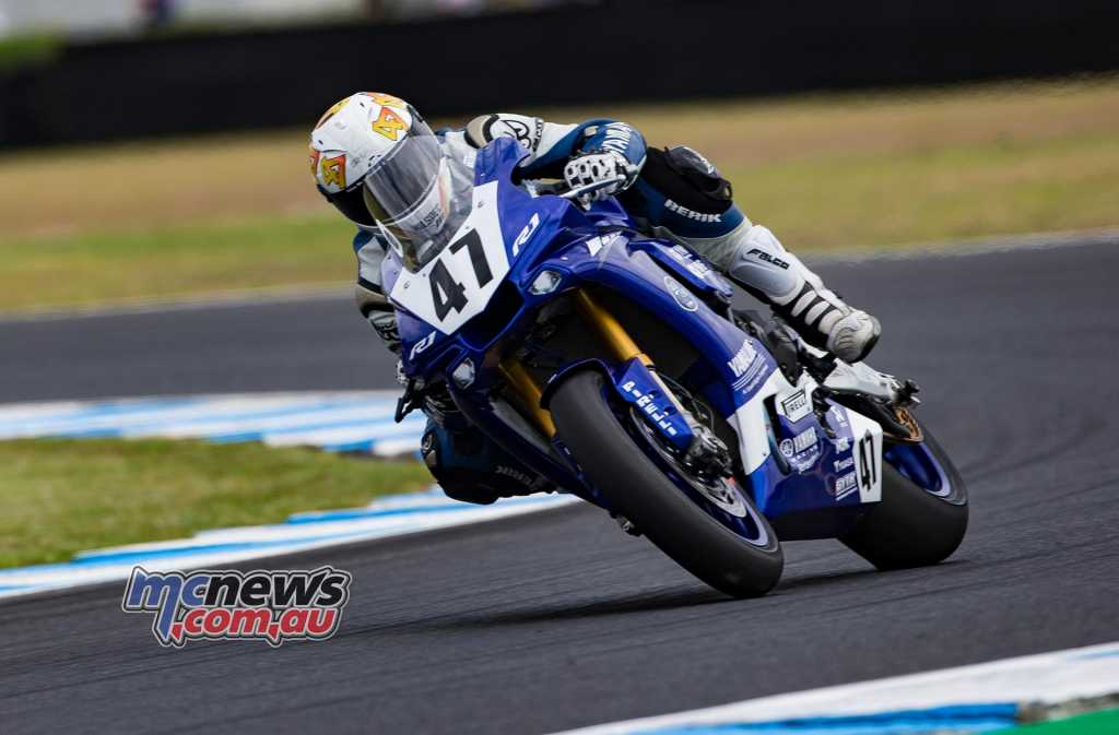 Wayne Maxwell is the top qualifying Aussie in the World Superbike field and will start from 16th on the grid when World Superbike Race One gets underway at 1500 this afternoon - Image by TBG