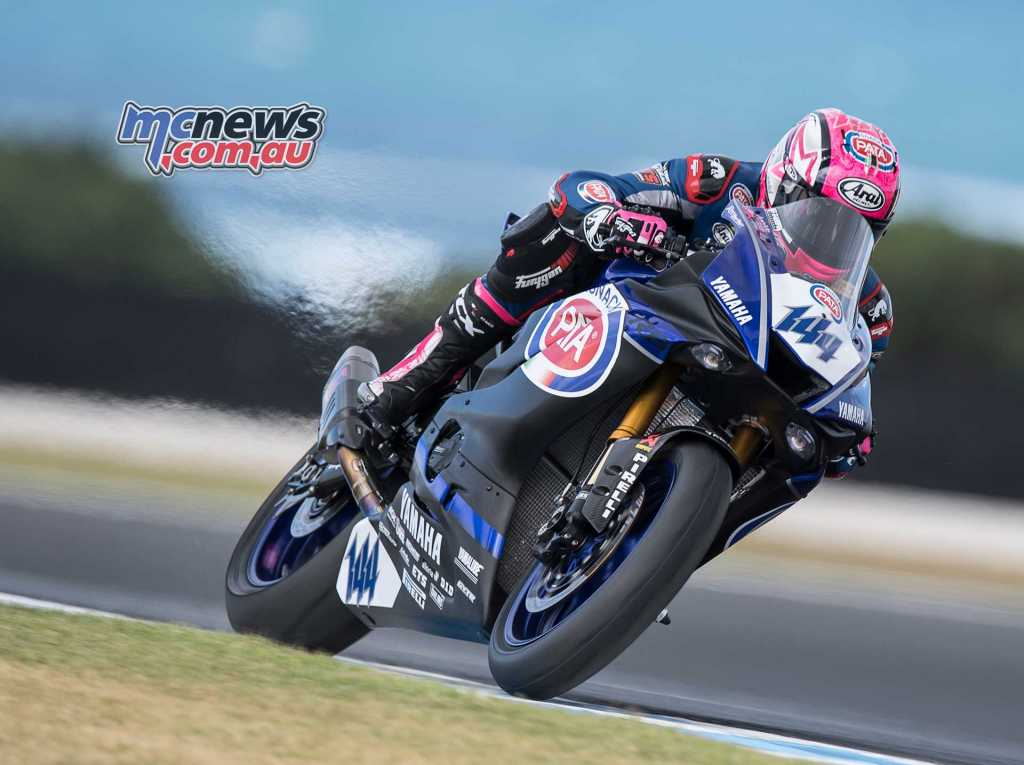 Lucas Mahias set the World Supersport pace - Image by GeeBee