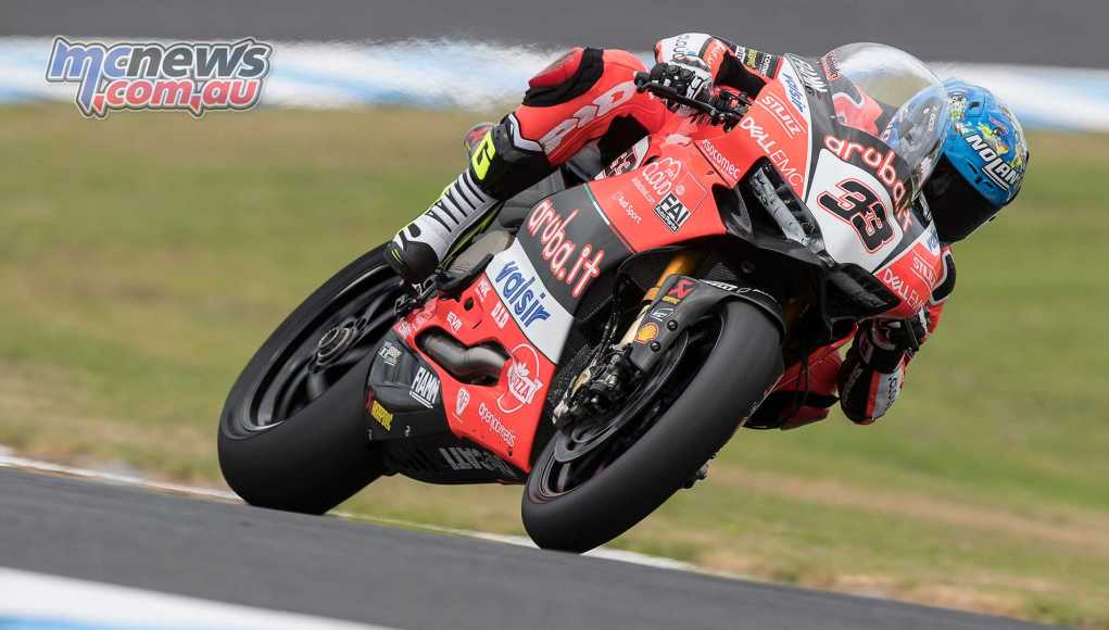 Marco Melandri sets early pace at P.I. - Image by GeeBee