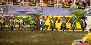AMA Supercross start line at Tampa