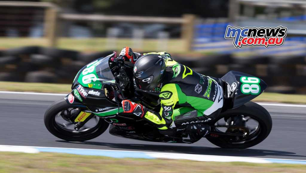 Oli Bayliss on his way to victory this morning at Phillip Island - Image by TBG