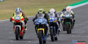Bramich took the Phillip Island Round win ahead of Ford seen leading here - Image by TBG Sport