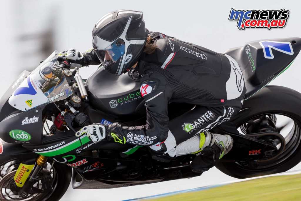Tom Toparis (Cube Racing, Kawasaki ZX6R) - Image by TBG