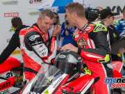 Troy Bayliss and Troy Herfoss raced wheel to wheel in the ASBK season opener at Phillip Island - TBG Image