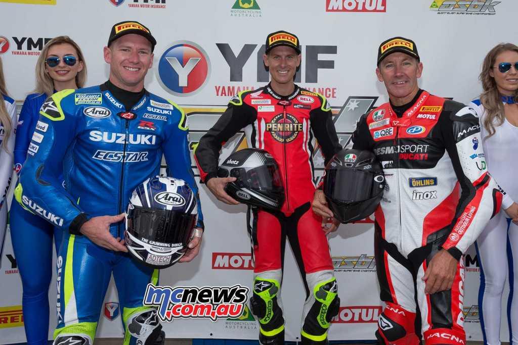 2018 ASBK - Round One - Phillip Island - Race One Results Troy Herfoss - Honda Troy Bayliss - Ducati +0.20 Josh Waters - Suzuki +0.42