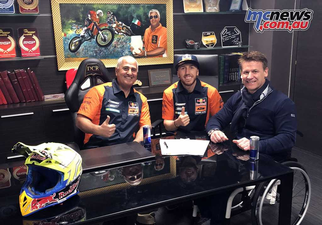 Claudio De Clari, Tony Cairoli and Pit Beirer