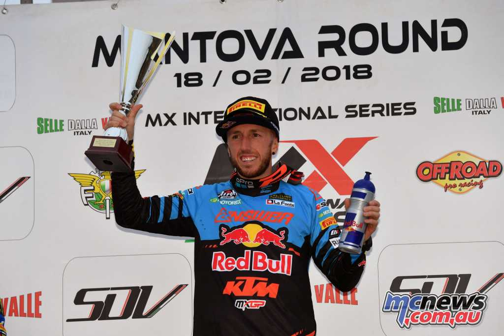 Toni Cairoli took the Italian MX win