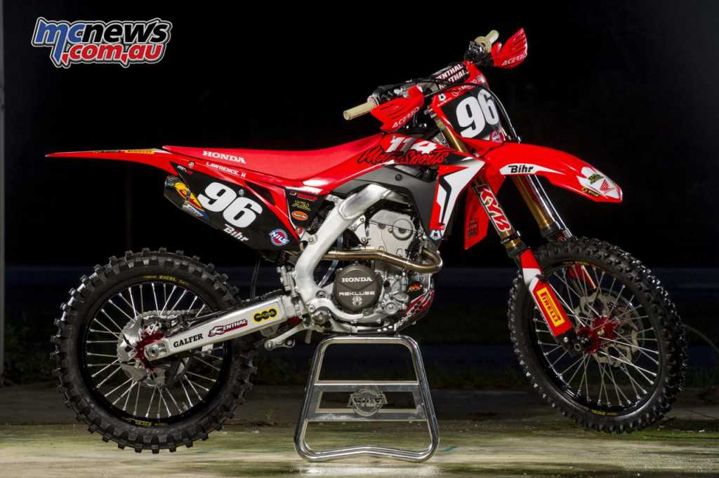 Hunter Lawrence qualified ahead of the Factory Team HRC entrants on his Team 114 CRF250R
