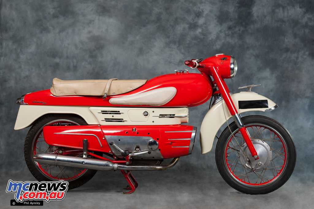 The Aermacchi 175cc Chimera was the brand's first four-stroke
