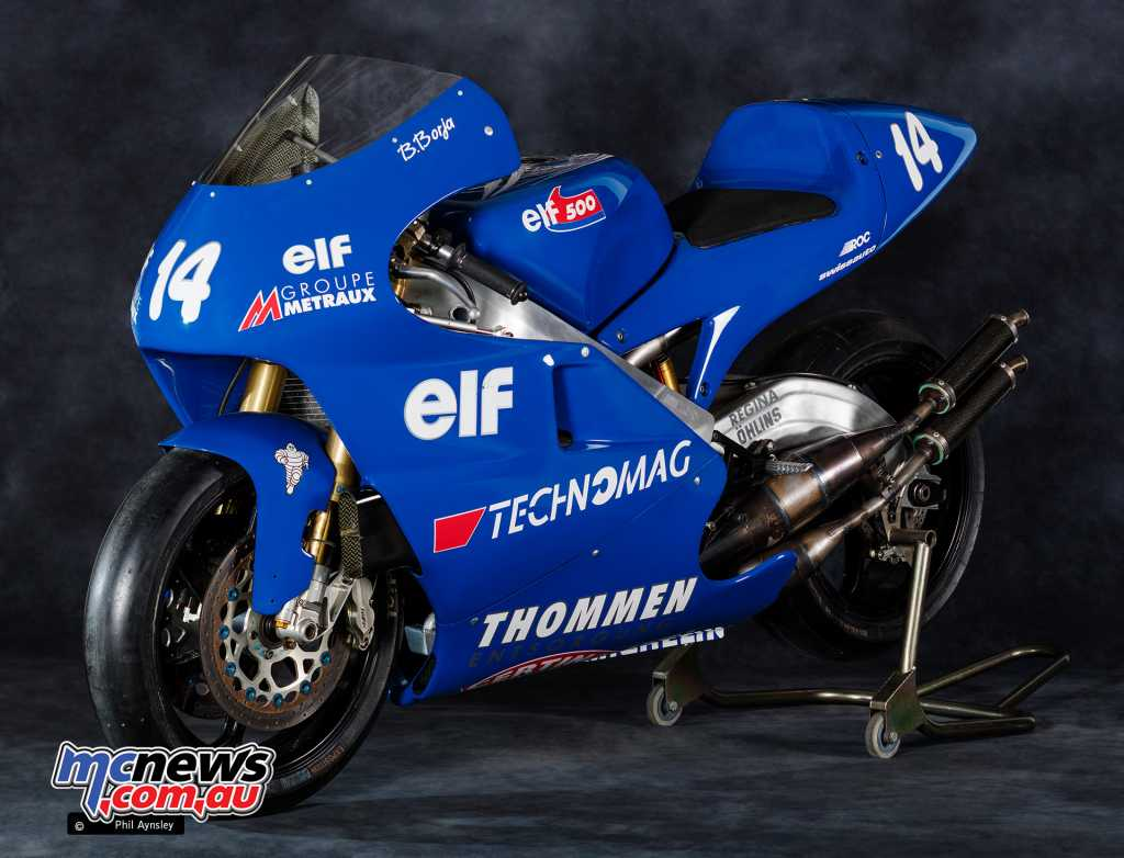 1997 ex-Borja Elf Swiss Auto V4 two-stroke Racer