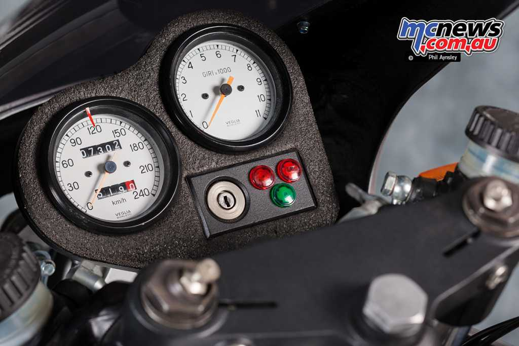 The Vee Two SV-1 Alchemy's instrument cluster
